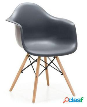 Silla Eames Inspiración Daw De Charles & Ray Eames Negro