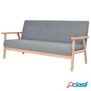 Sofá de 3 plazas de tela gris