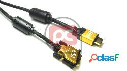 Super cable hdmi 1.4 de tipo hdmi-a macho a dvi-d macho de 5