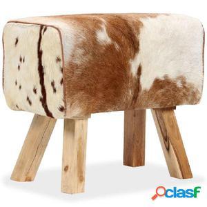 Taburete cuero de cabra auténtico 60x30x50 cm