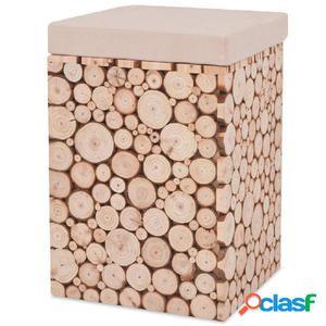 Taburete de madera genuina 30x30x40 cm