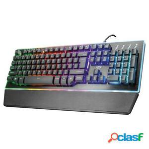 Teclado trust gaming gxt 860 thura semi-mechanical - 9 modos