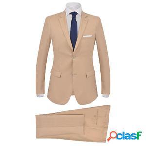Traje de chaqueta de hombre de 2 piezas talla 46 beige