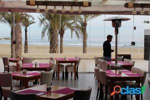 Traspaso concurrido restaurante en Javea playa El Arenal