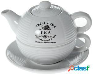 Wellindal Set 4 teteras con taza y plato