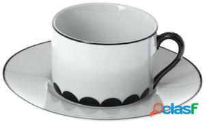 Wellindal Set 6 tazas café con plato cerámica con caja