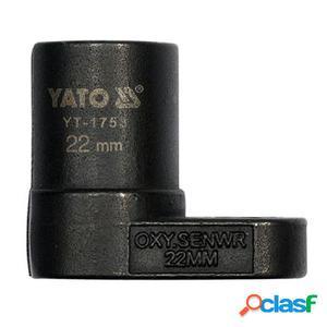 YATO Llave de Pata de Cabra del Sensor de Oxígeno 22 mm