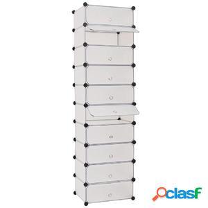 Zapatero apilable con 10 compartimentos blanco