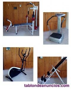 Conjunto maquinas de gimnasio