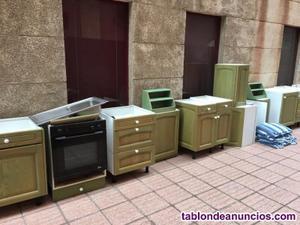 Muebles de cocina color verde