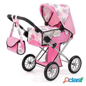 Bayer Cochecito de muñecas City Star rosa 13672AA