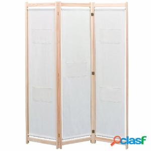 Biombo divisor de 3 paneles madera de pino maciza 120x170 cm