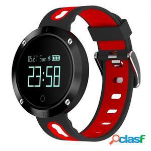Reloj deportivo billow xs30 negro/rojo - bt 4.0 - doble