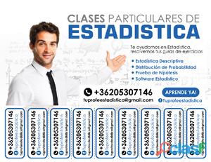 Tareas de Estadística. Clases y tutorias online