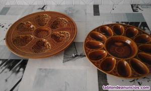Dos platos porcelana