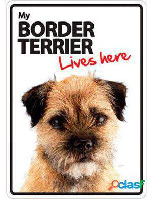 Magnet & Steel Señal A5 My Border Terrier Lives Here 100 GR