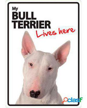Magnet & Steel Señal A5 My Bull Terrier Lives Here 100 GR