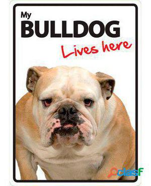 Magnet & Steel Señal A5 My Bulldog Lives Here 100 GR