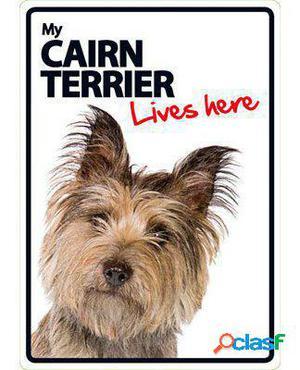 Magnet & Steel Señal A5 My Cairn Terrier Lives Here 100 GR