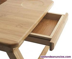 Mesa para ordenador portatil plegable bambu sofa sólo