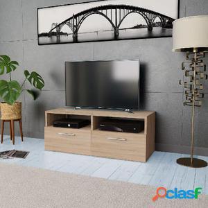 Mueble para la televisión aglomerado color roble 95x35x36