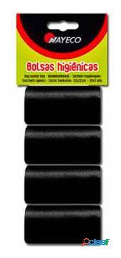 Nayeco Bolsas Higiénicas 4 Rollos Negro 70 GR