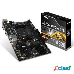 Placa base msi a320m pro-vd/s - socket am4 - chipset amd