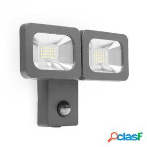 Smartwares Foco LED doble de seguridad 2x12 W negro