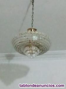 Vendo lampara swarosky de techo y apta para todo tipo de