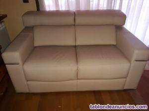 Venta de sofa de dos plazas en piel