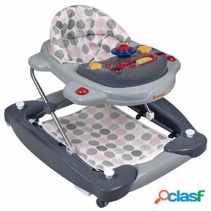 Baninni Andador para bebés 2 en 1 Classic gris y rosa