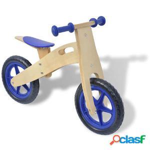 Bicicleta de balance de madera azul