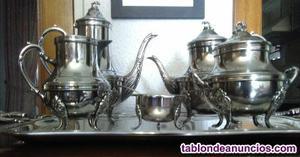 Juego de té plata