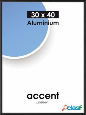 Nielsen Design Marco de aluminio acento negro 30x40 cm