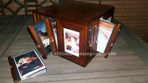 Caja de madera para guardar fotos. Porta fotos.