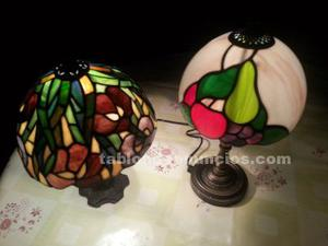 Lamparas de mesa de colores de cristal de tifanny
