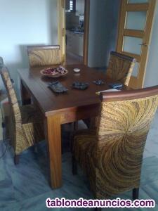 Muebles de salon estilo colonial teca