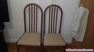Sillas madera gran calidad (precio negociable)