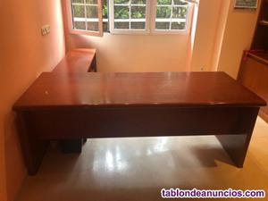 Super oferta: mesa despacho/estudio + 3 sillas