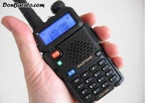 Baofeng bibanda uv5r walkie talkie largo alcance