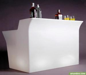 Barra bar recto con luz - Santiago de Compostela