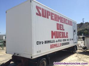 Caja de camion cerrada de 8x2, 45m