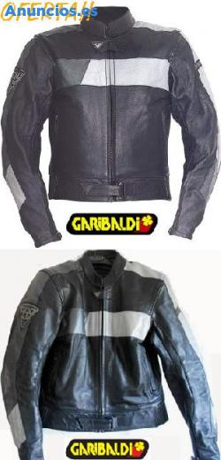Cazadora Garibaldi Moto Cuero Nueva Con Etiquetas