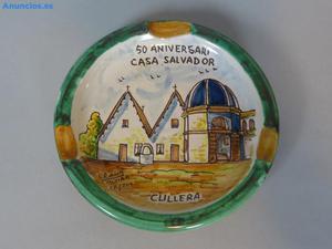 Cenicero De CeráMica Con Logotipo