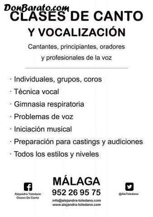 Clases de canto. málaga. técnica vocal. curso