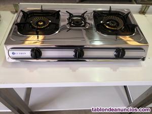 Cocina a gas 3 fuego