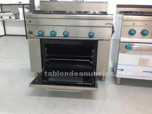 Cocina industrial nueva 3 fuegos. Mbm