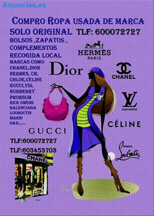 Compro Bolsos, Bisuteria, Zapatos, Complementos, Ropa