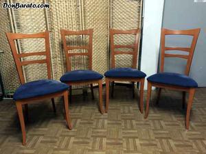 Cuatro sillas de salon en muy buen estado