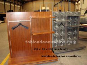 Expositores y estanterias de comercio de ropa